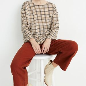 Madewell Boxy Tee Top in Houndstooth Size XXS